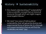history sustainability