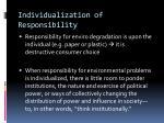 individualization of responsibility