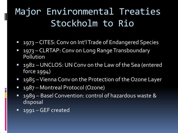 Major Environmental Treaties