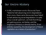 our enviro history