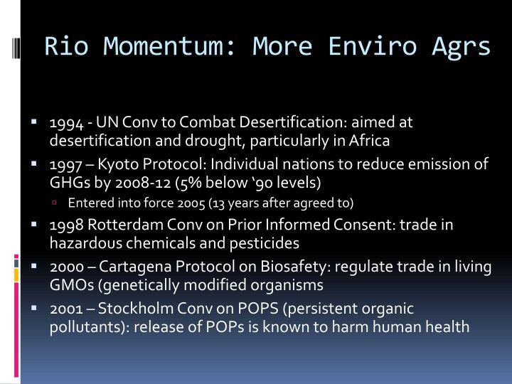 Rio Momentum: More