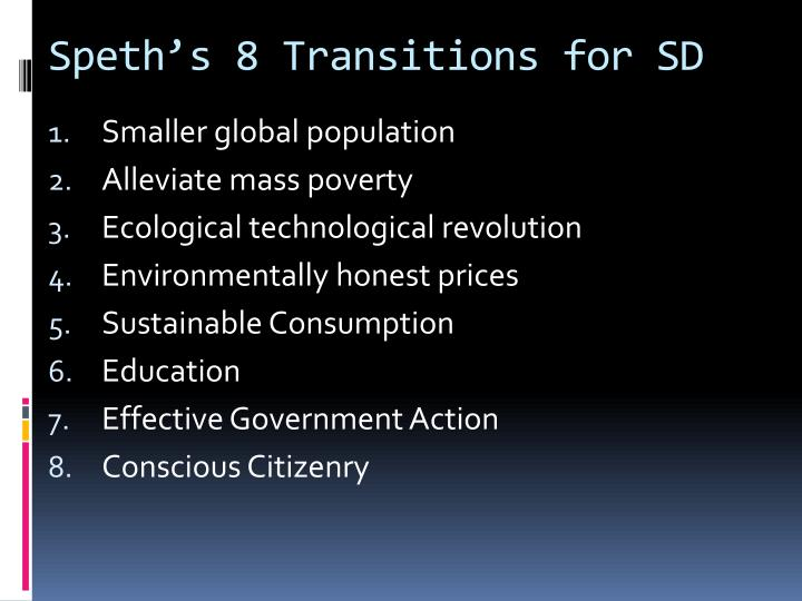 Speth's 8 Transitions for SD