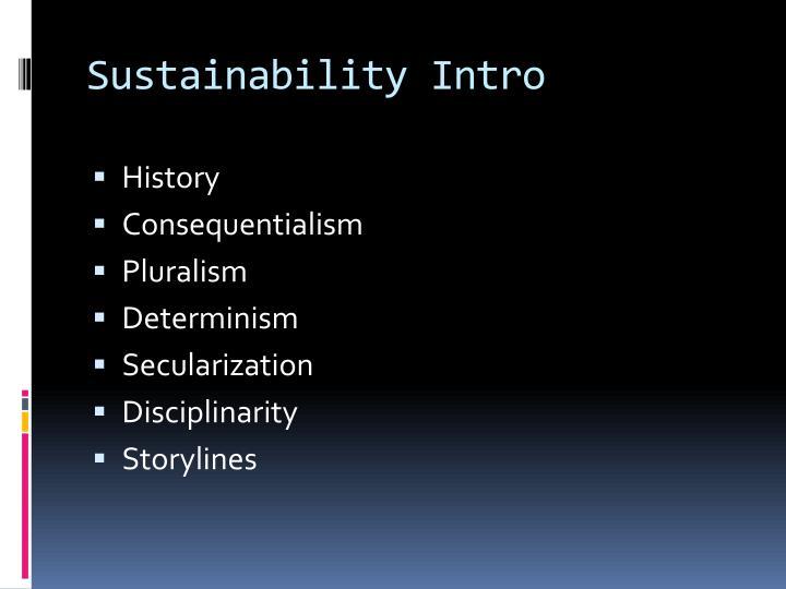 Sustainability Intro