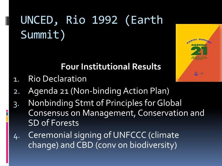 UNCED, Rio 1992 (Earth Summit)