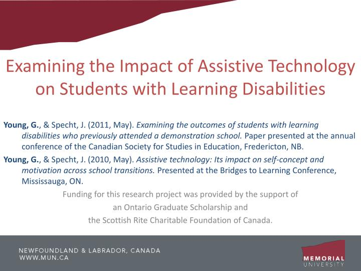 Examining the Impact of Assistive Technology