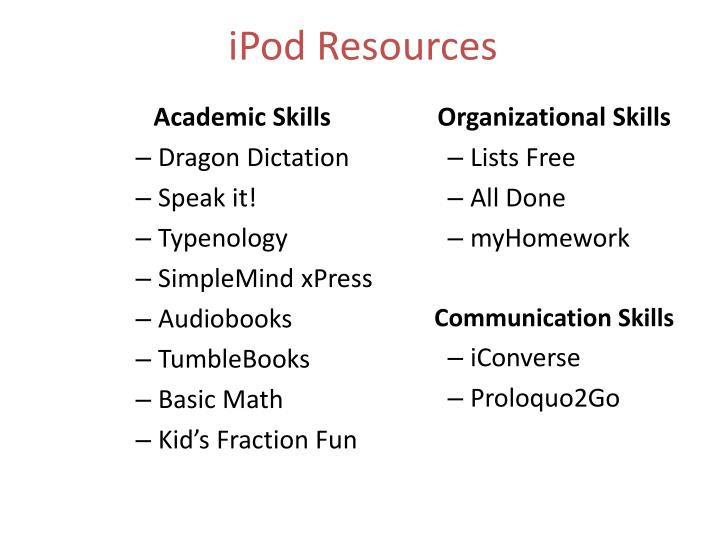 iPod Resources