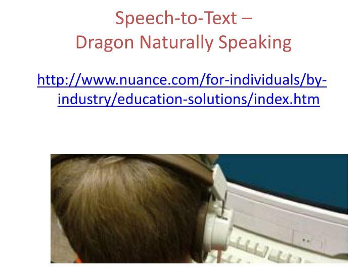Speech-to-Text –