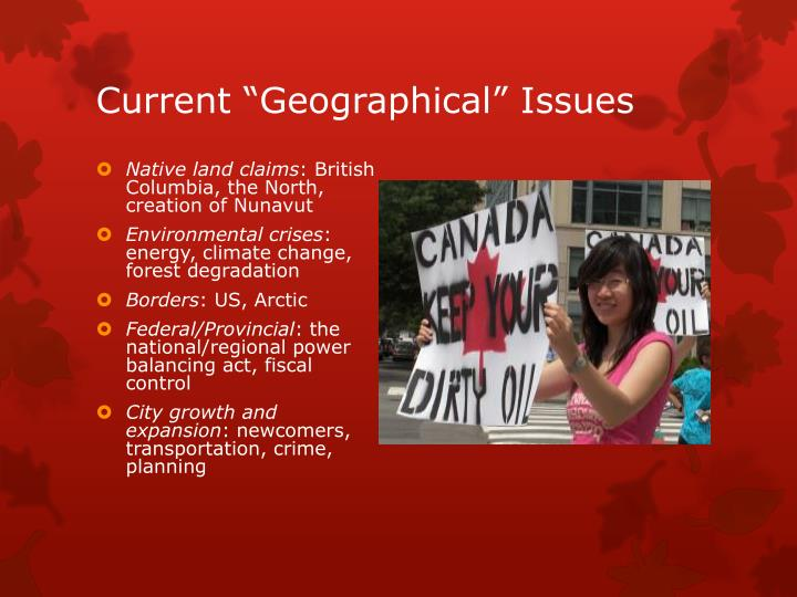 "Current ""Geographical"" Issues"