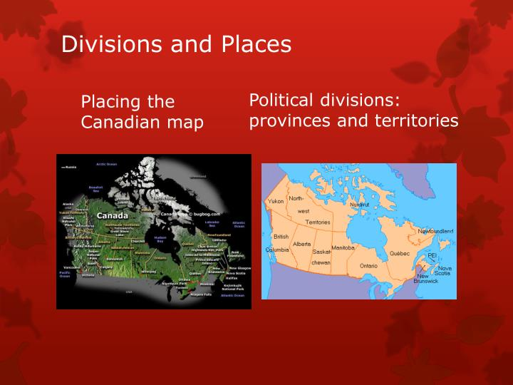 Divisions and Places