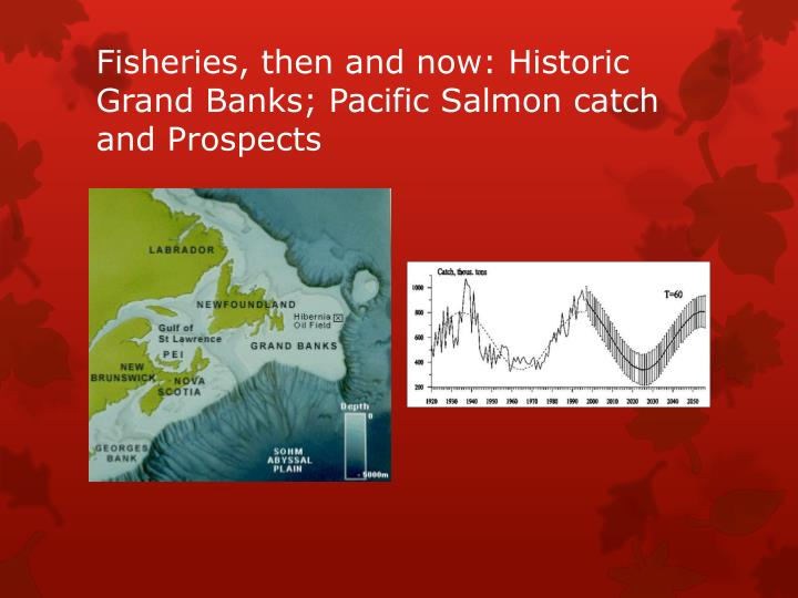 Fisheries, then and now: Historic Grand Banks; Pacific Salmon catch and
