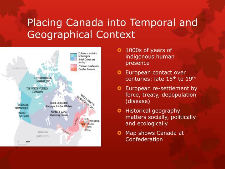 Placing Canada into