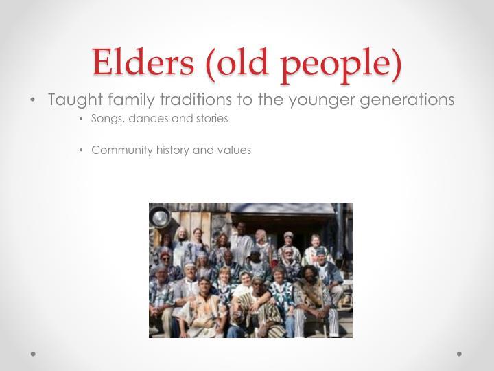 Elders (old people)
