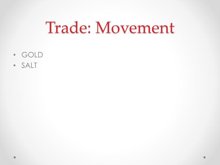 Trade: Movement