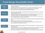 front range roundtable roles