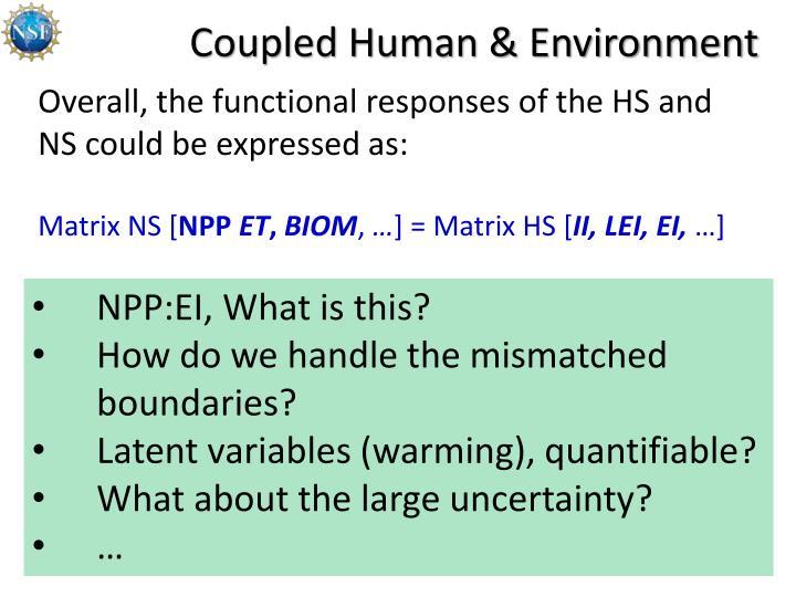 Coupled Human & Environment