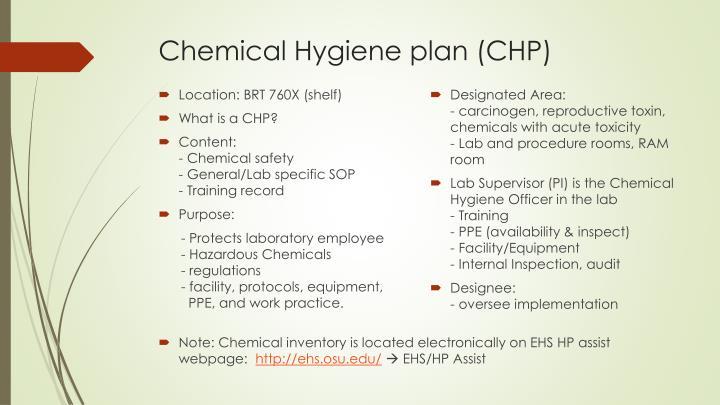 Ppt Chemical Hygiene Plan Bsl 2 Laboratory Safety