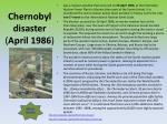 chernobyl disaster april 1986