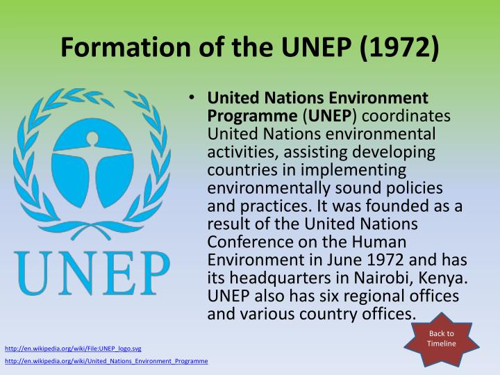 Formation of the UNEP (1972)