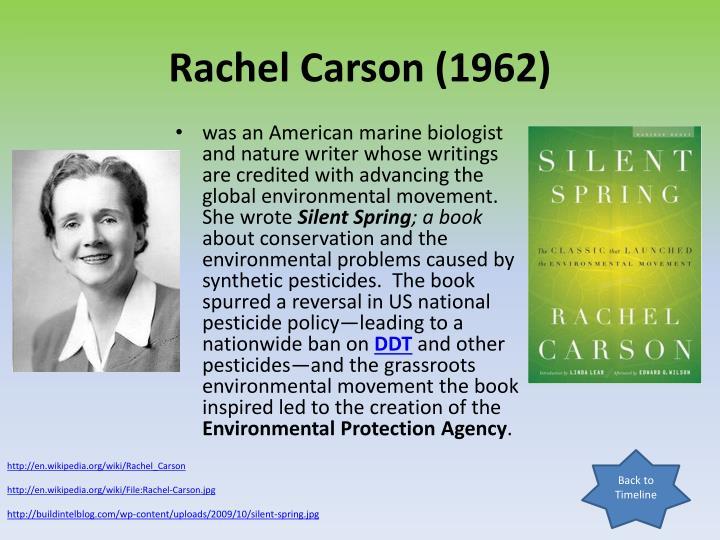 Rachel Carson (1962)
