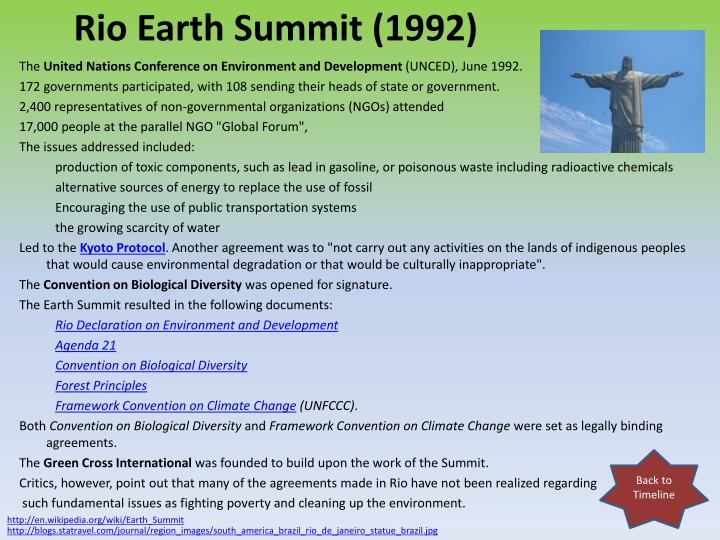 Rio Earth Summit (1992)