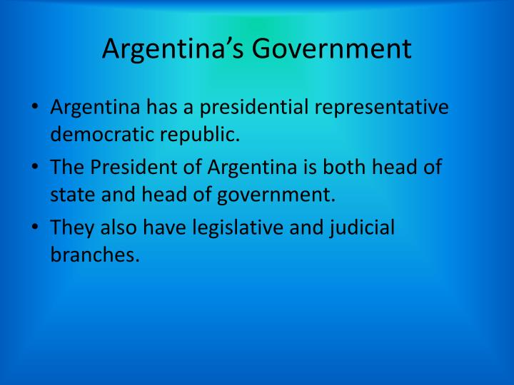 Argentina's Government