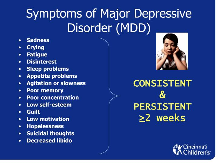 the symptoms causes and therapy of major depression What are the signs of major depression in men  some common triggers or  causes of major depression include:  he or she may also suggest  psychotherapy, or talk therapy, in which you address your emotional state.