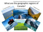 what are the geographic regions of canada