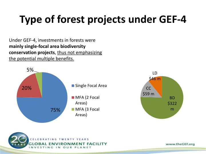 Type of forest projects under GEF-4