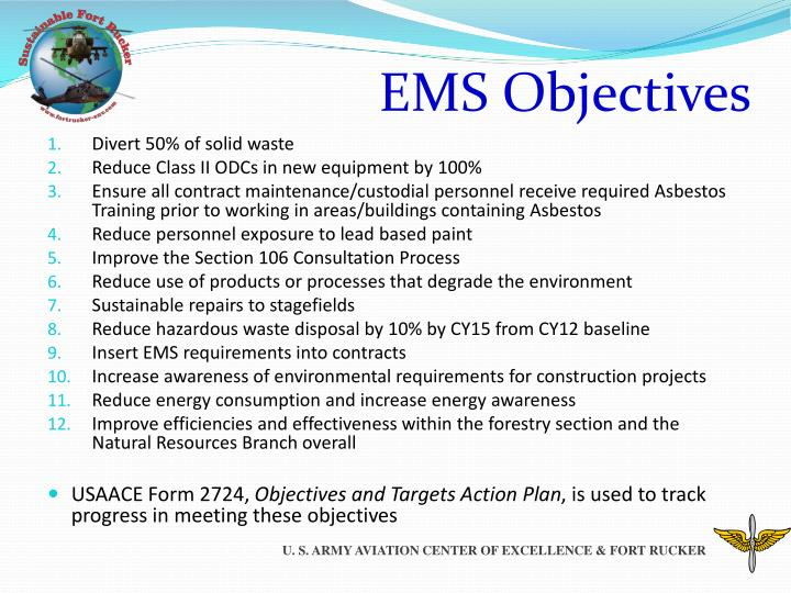 EMS Objectives