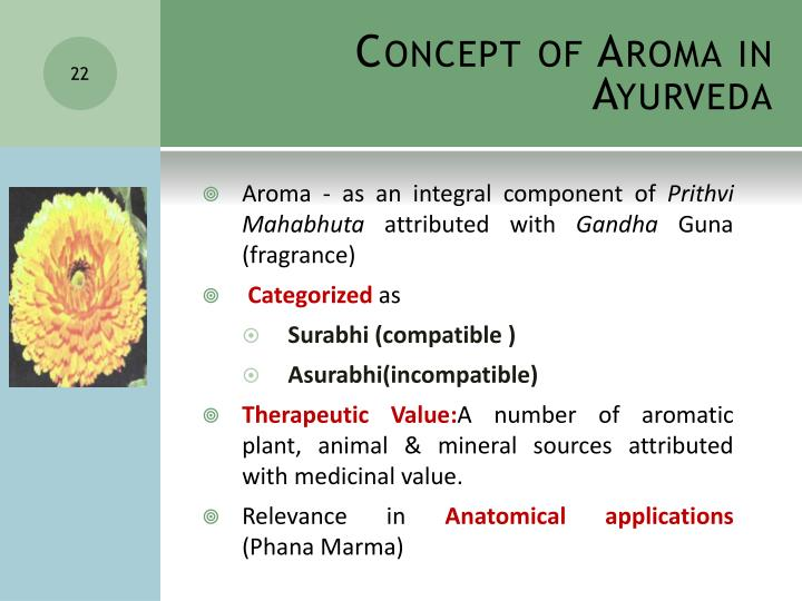 Concept of Aroma in Ayurveda