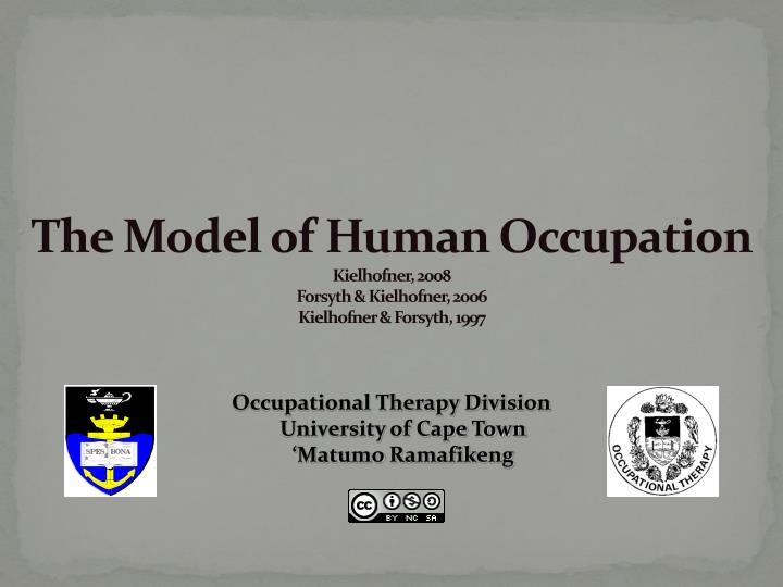 model of human occupation Ot-330--psychosocial studies and group process i learn with flashcards, games, and more — for free.