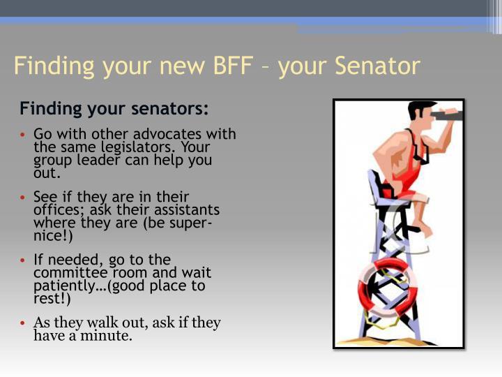 Finding your senators: