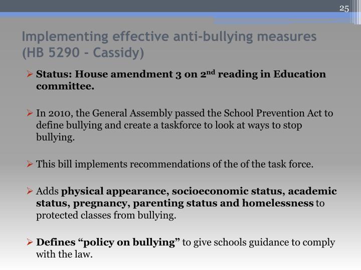 Status: House amendment 3 on 2