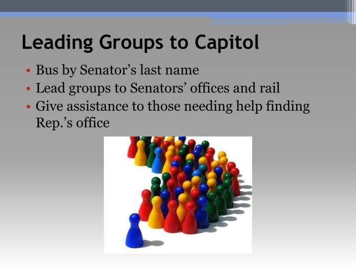 Leading Groups to Capitol