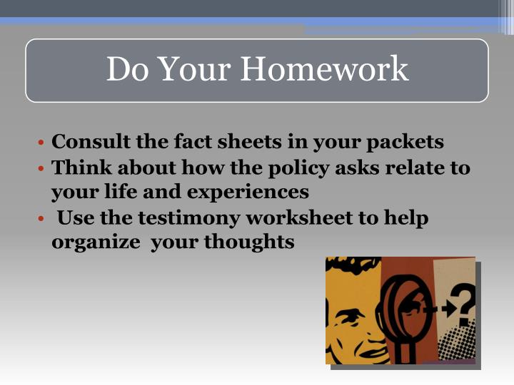 Consult the fact sheets in your packets