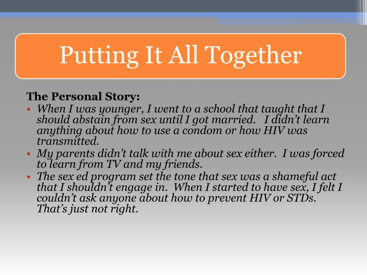 The Personal Story:
