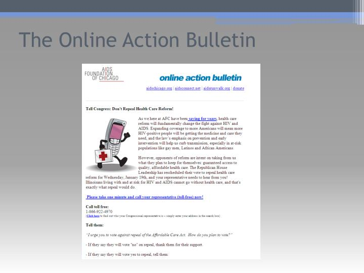 The Online Action Bulletin
