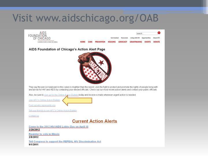 Visit www.aidschicago.org/OAB