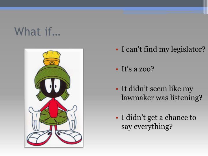 I can't find my legislator?
