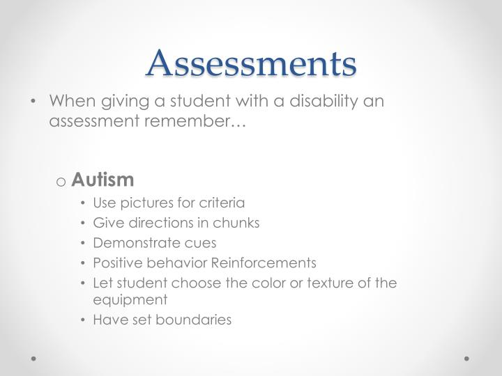 Assessments