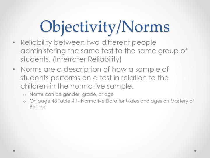 Objectivity/Norms