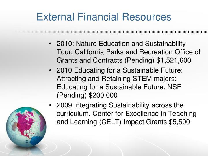 External Financial Resources