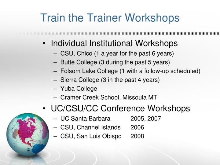 Train the Trainer Workshops