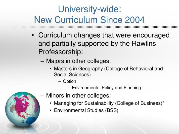 University-wide: