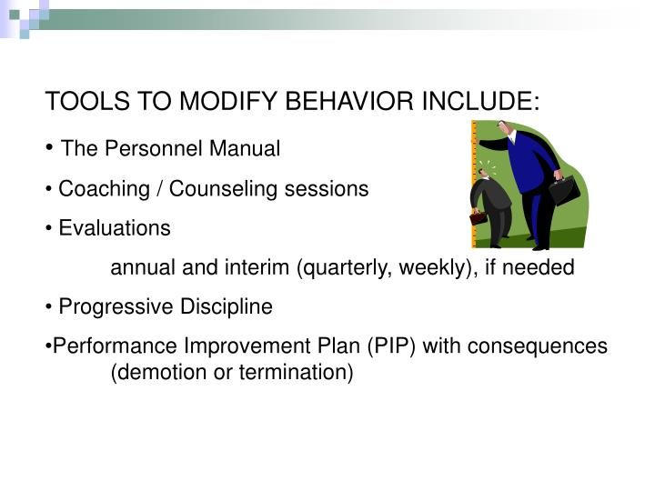 TOOLS TO MODIFY BEHAVIOR INCLUDE: