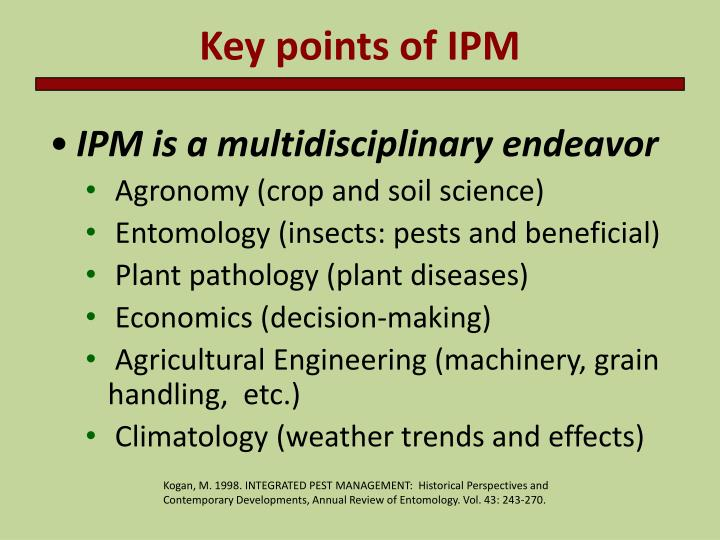 Key points of IPM