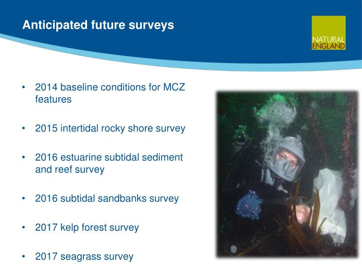 Anticipated future surveys