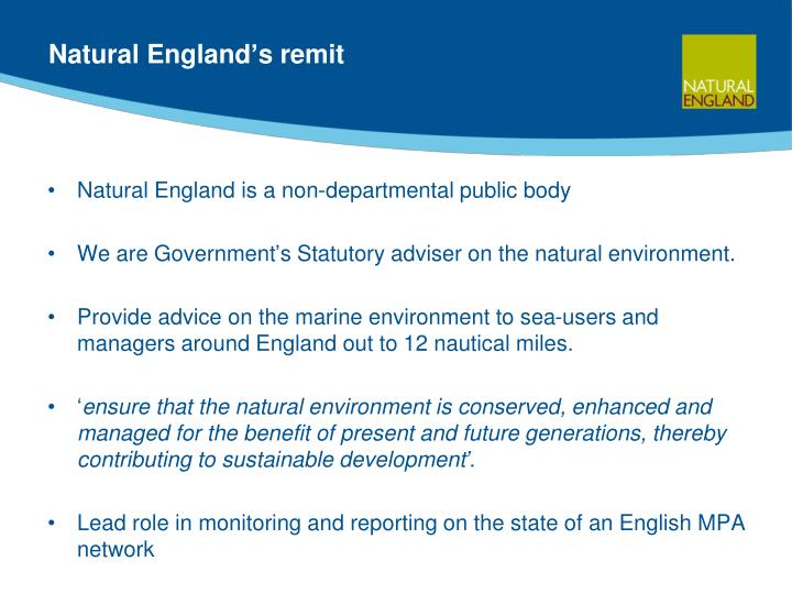 Natural England's remit