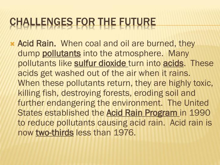 Acid Rain.