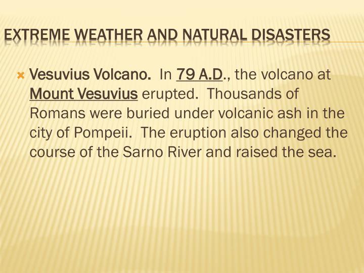Vesuvius Volcano.